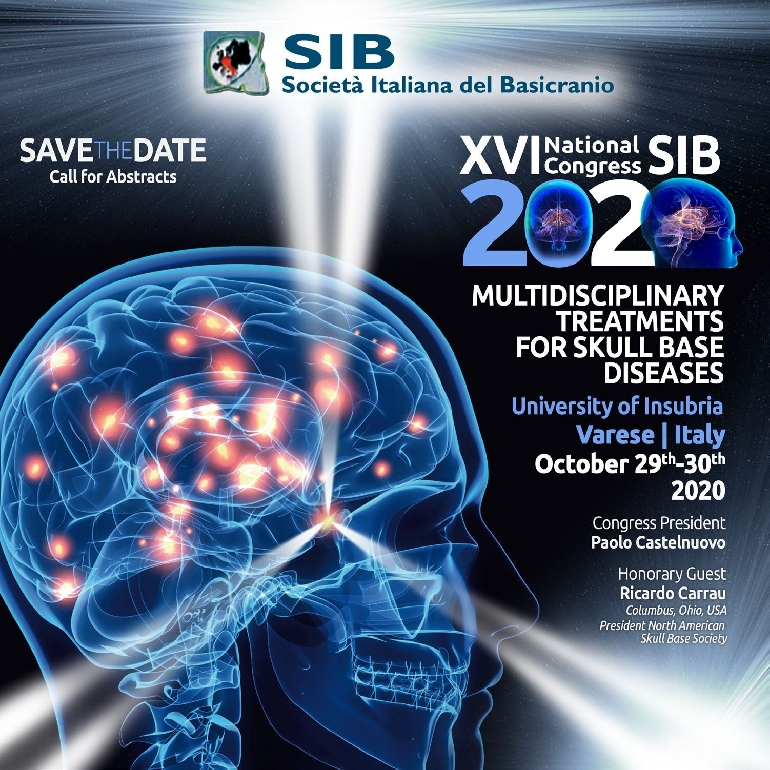 XVI National Congress SIB 2020 - Multidisciplinary treatments for skull base diseases